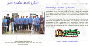 San Isidro Male Choir Website